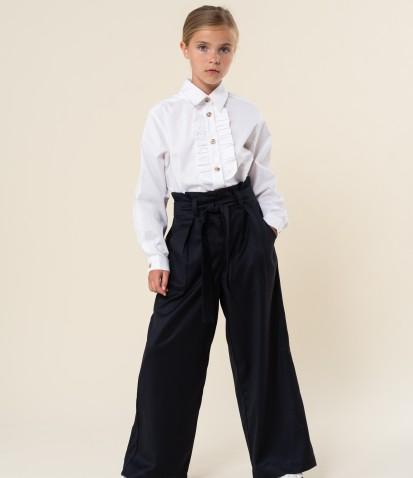 Школьные брюки Лея с высокой талией