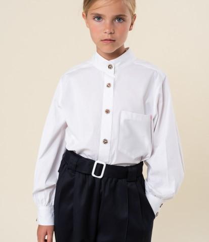 Белая классическая рубашка Бриджит