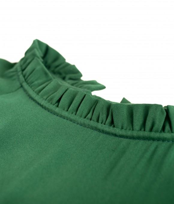 Платье штапель Twill в ярко-зеленом цвете