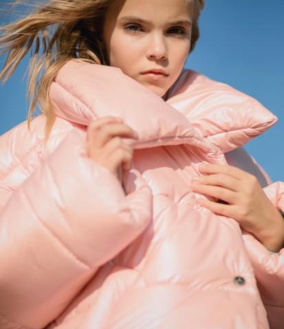 Куртка дутая в розовом цвете