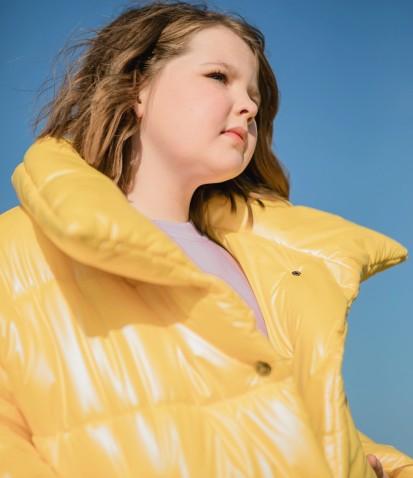 Куртка дутая в желтом цвете