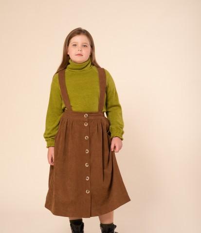 Вельветовая юбка на подтяжках
