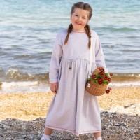 Трикотажное платье в сером цвете