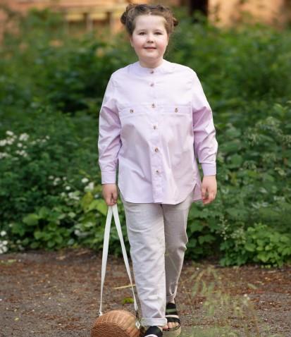 Лавандовая рубашка Шарлотта из хлопка