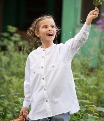 Белая рубашка Шарлотта из хлопка